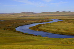 Inner mongolia grassland. China  Inner mongolia  Hulun Buir  grassland  scenery Royalty Free Stock Photography