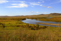 Inner mongolia grassland. China  Inner mongolia  Hulun Buir  grassland  scenery Royalty Free Stock Image
