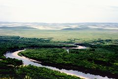 Inner Mongolia grassland scenery Genhe Wetland Park Stock Photography