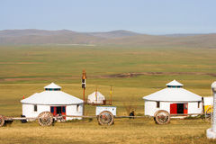 Inner Mongolia Jinzhanghan que visita o tribo Imagens de Stock Royalty Free