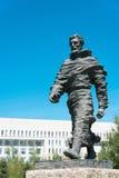 INNER MONGOLIA KINA - Augusti 10 2015: Marco Polo Statue på Kublai royaltyfri fotografi