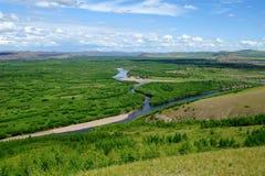 Inner Mongolia våtmarker Arkivfoto