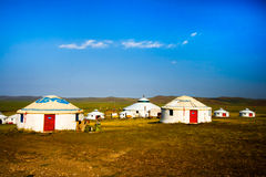 Inner Mongolia Yurt. In the grass land Stock Images