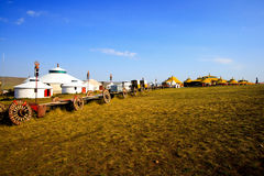 Inner Mongolia Yurt. In the grass land stock photography