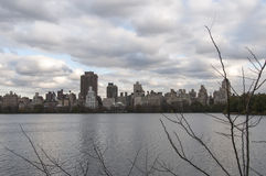 Inner New York skyline viewed from Central Park. Photo shot from inside Central Park in New York Royalty Free Stock Images