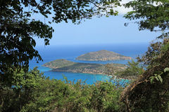Inner and Outer Brass Islands from St Thomas Stock Photos