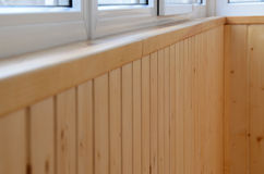 Inner paneling of a balcony after reconstruction Stock Image