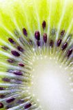 Inner part of kiwi fruit close-up Royalty Free Stock Photos