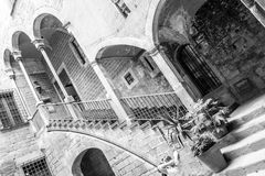 Inner Pation in the Gothic quarters of Barcelona Royalty Free Stock Photography