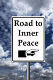 Inner peace. Finding the road to inner peace and becoming happy Stock Image