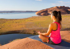 Inner Peace and Lake Powell Stock Photos