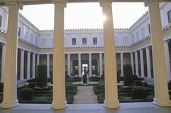 Inner Peristyle Garden of the J. Paul Getty Museum, Malibu, Los Angeles, California Royalty Free Stock Image
