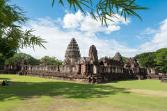 The inner sanctuary of Prasat Hin Phimai, ancient Khmer temple complex. Or landmark in Nakhon Ratchasima province, Thailand Royalty Free Stock Photography
