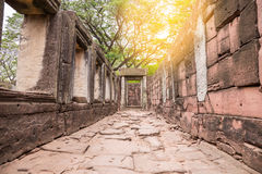 The inner sanctuary of Prasat Hin Phimai, ancient Khmer temple complex. Or landmark in Nakhon Ratchasima province, Thailand Stock Photos