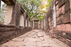 The inner sanctuary of Prasat Hin Phimai, ancient Khmer temple complex. Or landmark in Nakhon Ratchasima province, Thailand Stock Images
