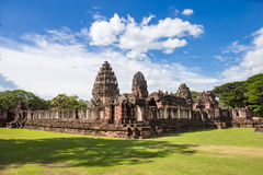 The inner sanctuary of Prasat Hin Phimai, ancient Khmer temple complex. Or landmark in Nakhon Ratchasima province, Thailand Stock Photography