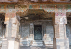 Inner sanctum of Chithannavasal Cave Temple. Royalty Free Stock Photo