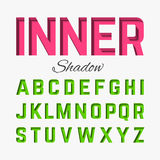 Inner shadow font Royalty Free Stock Photos