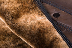 Inner side of leather  jackets Royalty Free Stock Photo