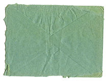 Inner side of the old worn-out blue envelopes Stock Images