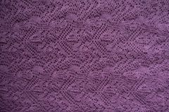 Inner side of pink knitted lace. From above stock images