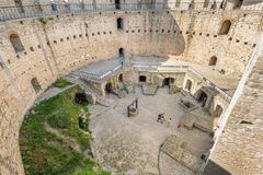 Inner space of medieval fortress in Soroca, Republic of Moldova royalty free stock photos