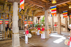 The inner space of the temple, Kandy Royalty Free Stock Photography