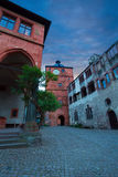 Inner square of Heidelberg castle during evening Royalty Free Stock Photos