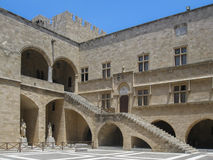 Inner Square Historical Building Rhodes Royalty Free Stock Images