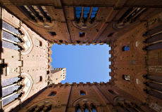Inner Square of Palazzo Pubblico Royalty Free Stock Photography