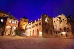 Inner square of Schloss Heidelberg during night Royalty Free Stock Photo