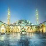 Inner square of Suleymaniye Mosque or Blue Mosque. In Istanbul, Turkey Royalty Free Stock Photo