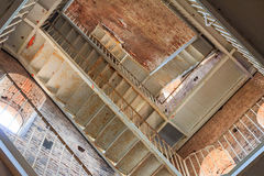 Inner staircase of an old brick tower Royalty Free Stock Images