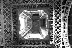 Inner structure of the Eiffel Tower in Paris Royalty Free Stock Image