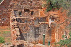 INNER STRUCTURE OF OLD FORT IN RUINS. Interior structure of old fort in ruins royalty free stock image