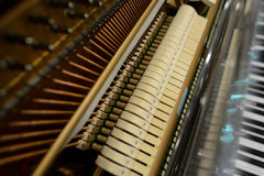 Inner structure of piano Stock Photography