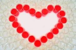 Inner-Symbol für Valentinstag lizenzfreies stockbild