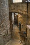 Inner territory of Saint Sabba Monastery near Jerusalem Stock Image