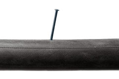 Inner Tube with nail Stock Photography