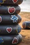 Inner tube reuse for life buoy Stock Image