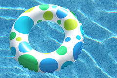 Inner Tube in Swimming Pool Stock Photo