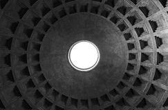 Inner vault of the dome. Pantheon, Rome Royalty Free Stock Photography