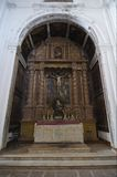 Inner view of Cathedral of St. Catherine of Alexan. Dria. Old Goa, India Royalty Free Stock Image