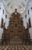 Inner view of Church of St Cajetan. Old Goa, India Stock Photography