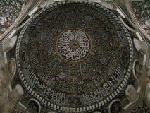 Inner view of the dome of Ashrafiyah mosque, Taiz, Yemen royalty free stock photo