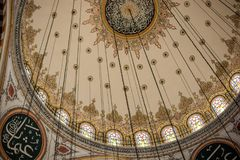 Inner view of dome in Ottoman architecture. In, Istanbul, Turkey stock photo