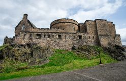 An inner view of Edinburgh Castle. Scotland royalty free stock photos