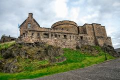 An inner view of Edinburgh Castle. Scotland stock photography