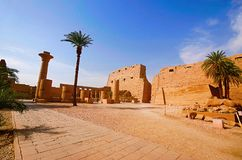 Inner view of Karnak Temple complex, Comprises a vast mix of decayed temples, chapels, pylons and other buildings. Luxor, Egypt Stock Photo