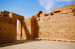 Inner view of Karnak Temple complex, Comprises a vast mix of decayed temples, chapels, pylons and other buildings. Luxor, Egypt Stock Image